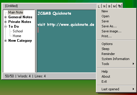 Quicknote is a useful desktop-notepad that can also remind you.